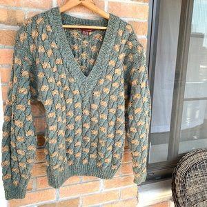 Vintage Jeffrey Banks green thick wool sweater
